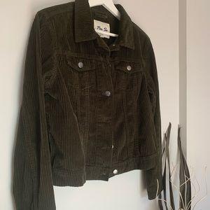 Per Se Khaki Green Corduroy Jacket